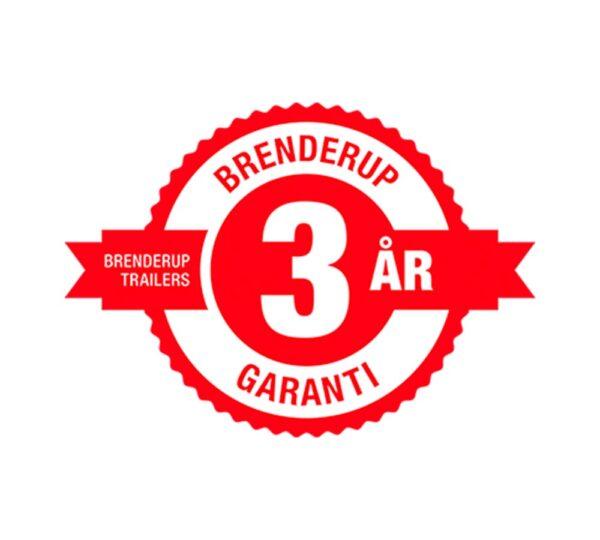 märke 3 års garanti Brenderup släp