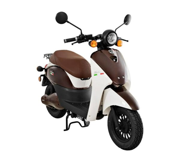 Viarelli Palermo brun/vit elmoped